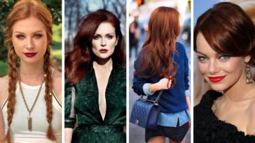 coiffures rousses cheveux roux coupes