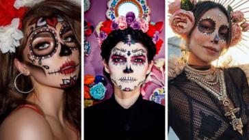 dia de los Muertos maquillages halloween fête morts
