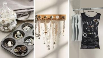 idées rangement bijoux astuces DIY